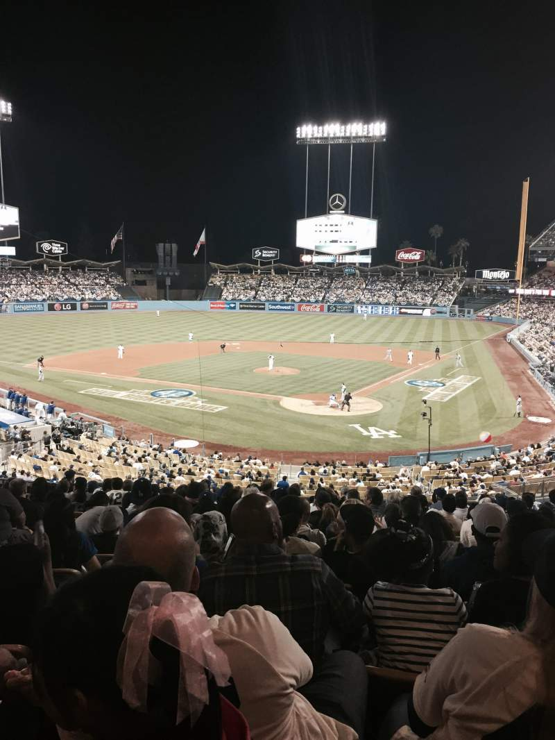 Seating view for Dodger Stadium Section 109LG Row P Seat 3