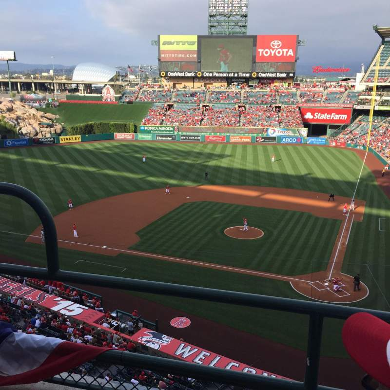 Seating view for Angel Stadium Section V415 Row B Seat 3