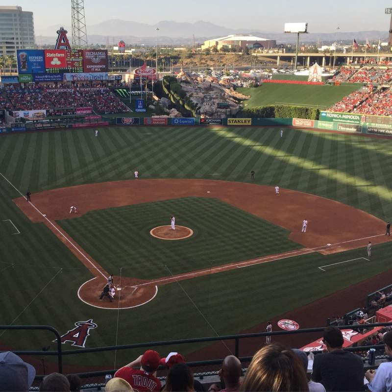 Seating view for Angel Stadium Section V421 Row G Seat 2