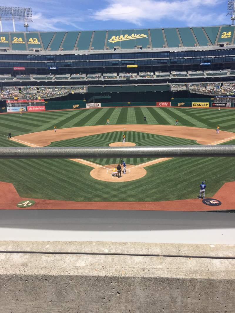 Seating view for Oakland Alameda Coliseum Section 217 Row 1 Seat 3