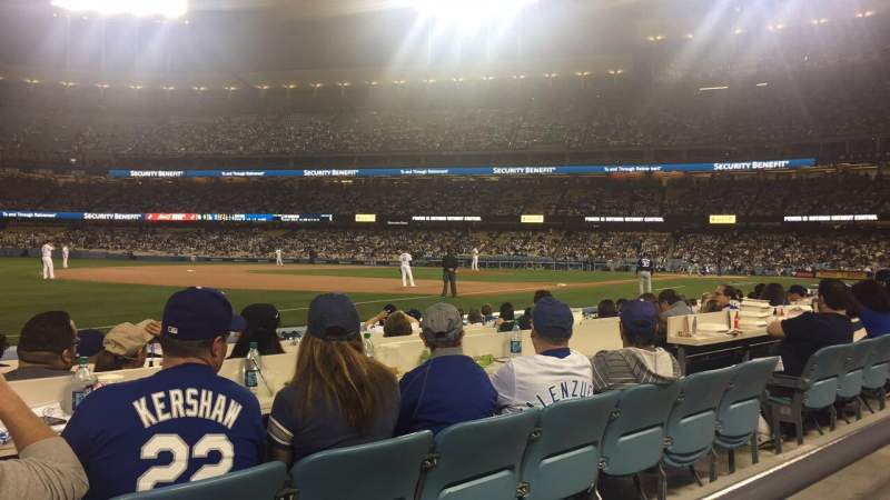 Seating view for Dodger Stadium Section 37FD Row A Seat 8