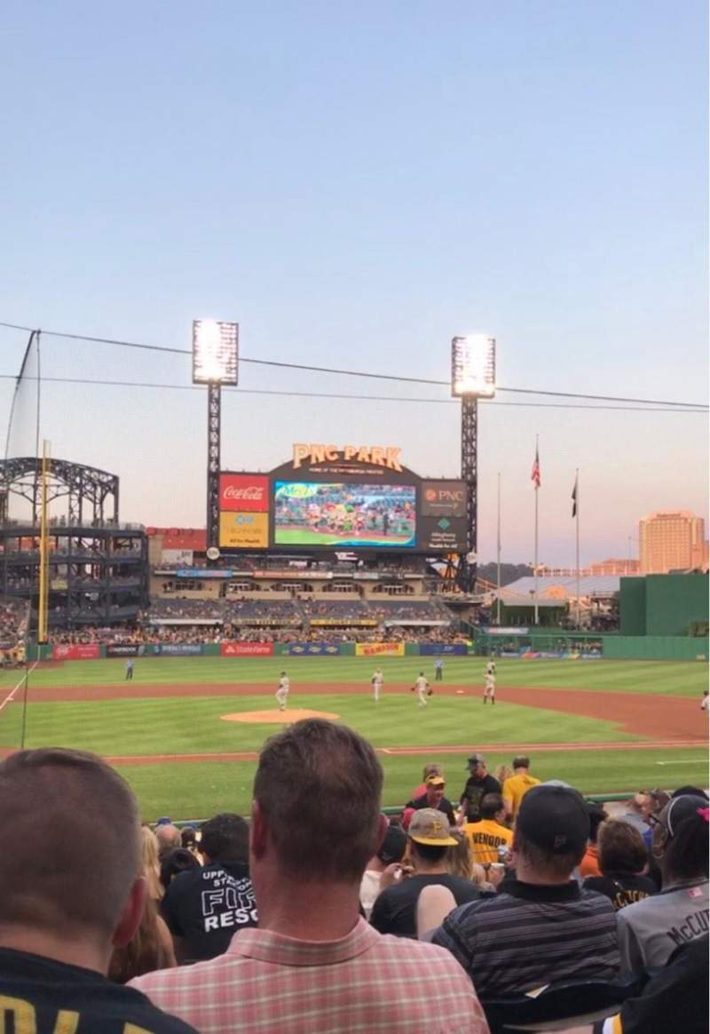 Seating view for PNC Park Section 113 Row H Seat 14