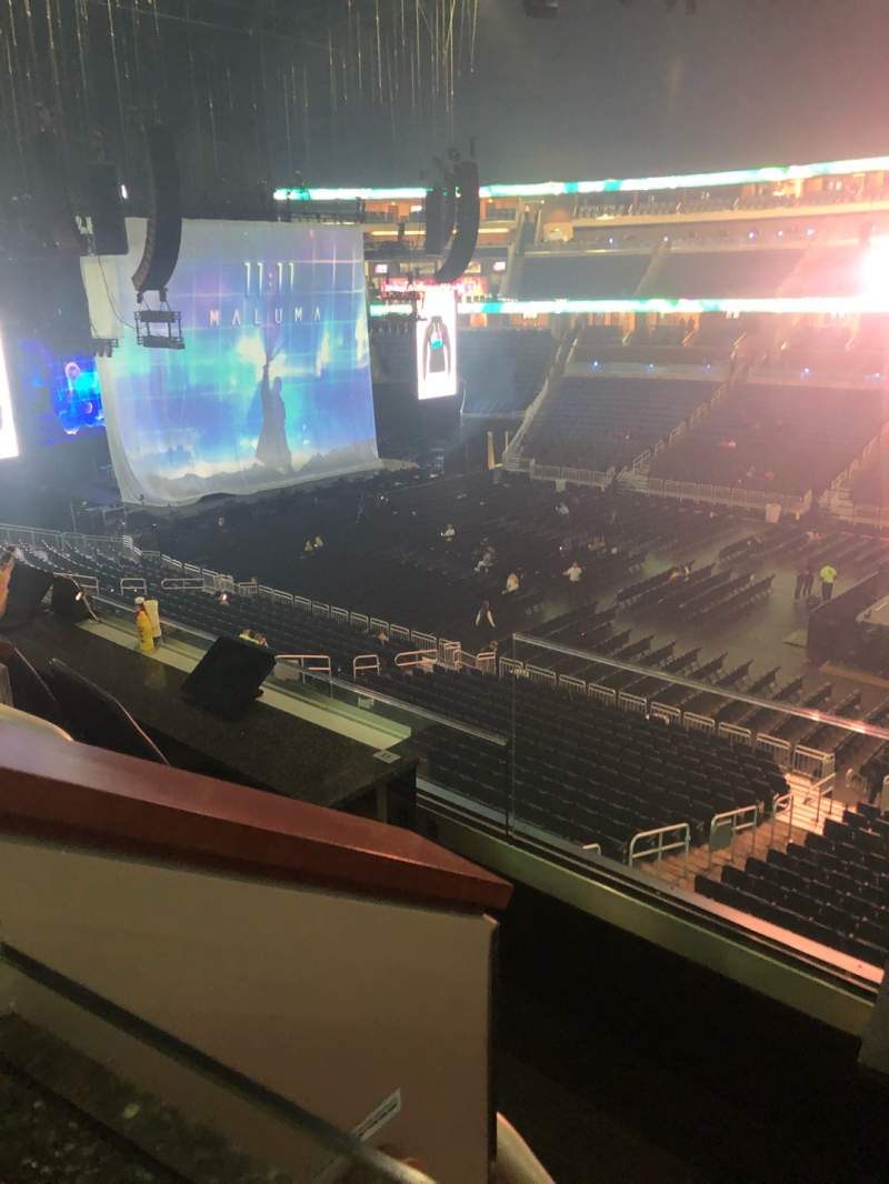Seating view for Amway Center Section Loge Box E Row 2 Seat 5