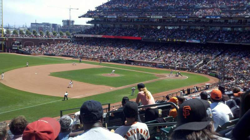 Seating view for Oracle Park Section 228 Row K Seat 14