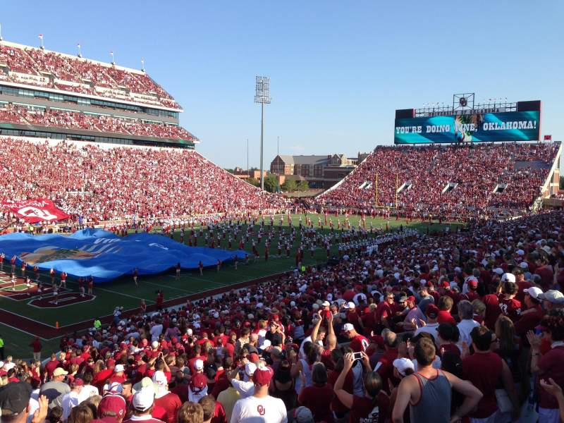 Seating view for Gaylord Memorial Stadium Section 12 Row 44 Seat 6