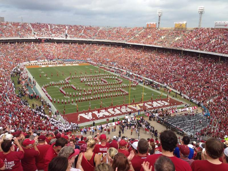 Seating view for Cotton Bowl Section 141 Row 25 Seat 35