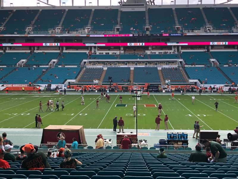 Seating view for Hard Rock Stadium Section 118 Row 28 Seat 14