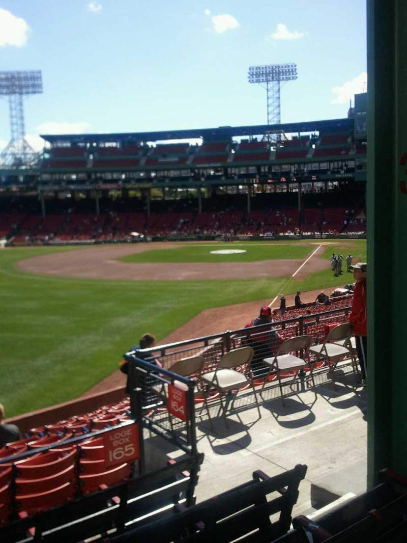 Seating view for Fenway Park Section Grandstand 33 Row 5 Seat 4