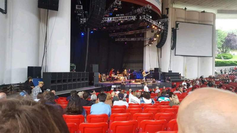 Seating view for PNC Bank Arts Center Section 104 Row u Seat 33