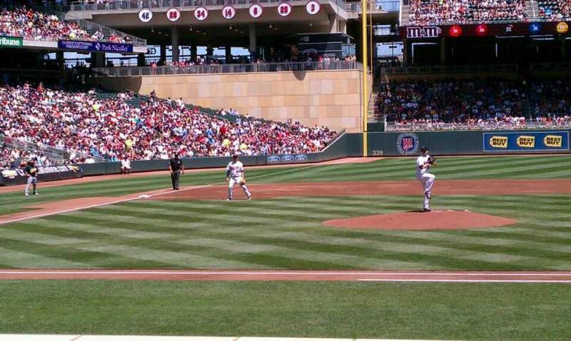 Seating view for Target Field Section 5 Row 10 Seat 2