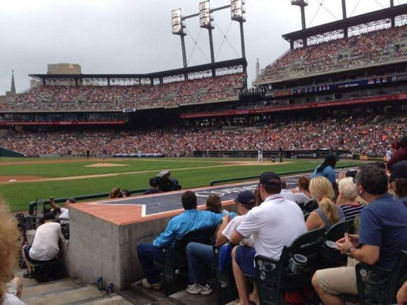 Seating view for Comerica Park Section 136 Row 12 Seat 1