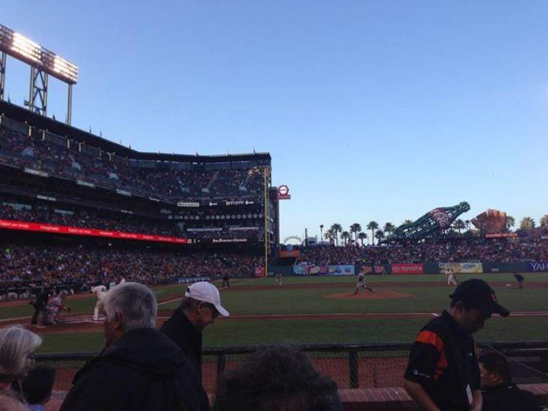 Seating view for AT&T Park Section 110 Row B Seat 1