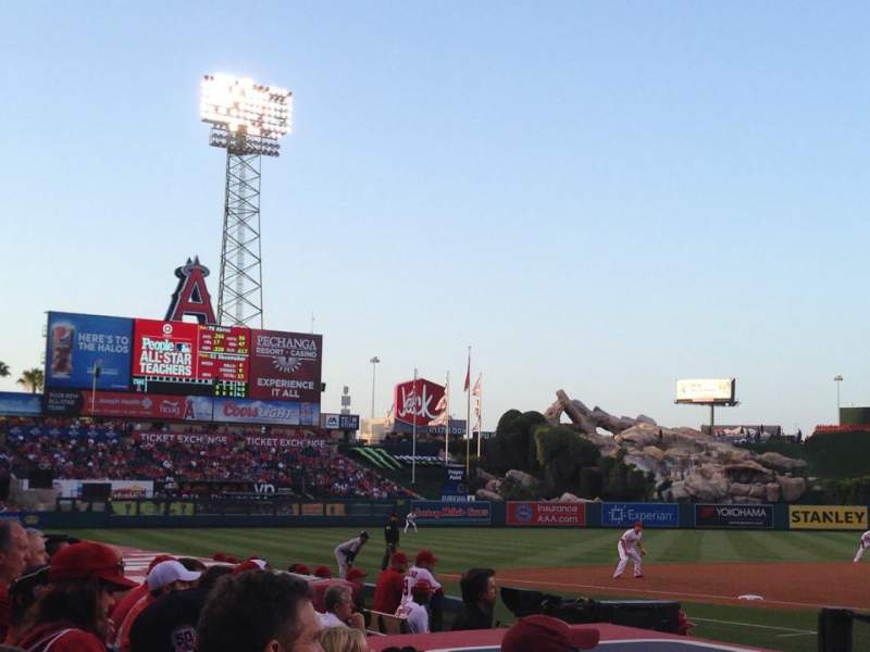Seating view for Angel Stadium Section F113 Row E Seat 12