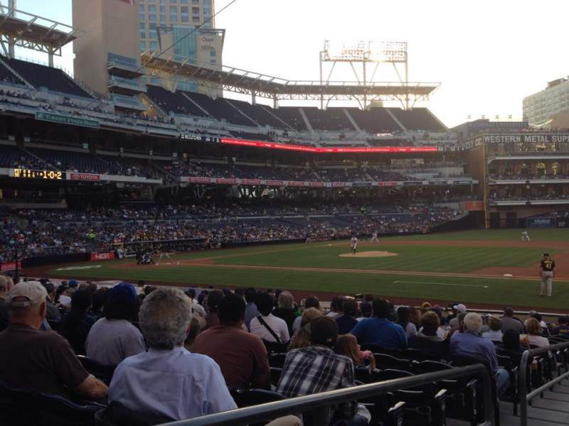 Seating view for PETCO Park Section 111 Row 20 Seat 1