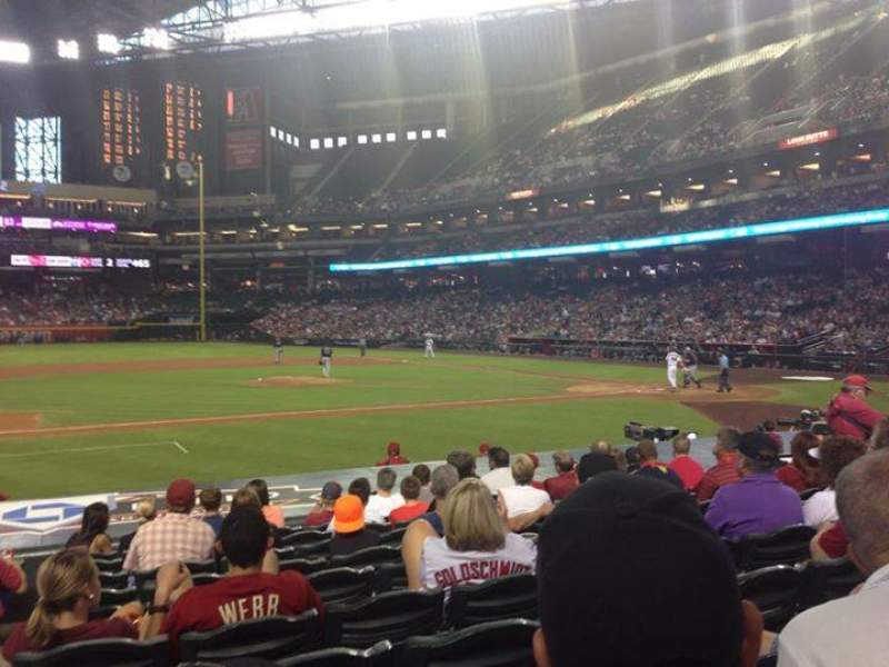 Seating view for Chase Field Section O Row 15 Seat 12