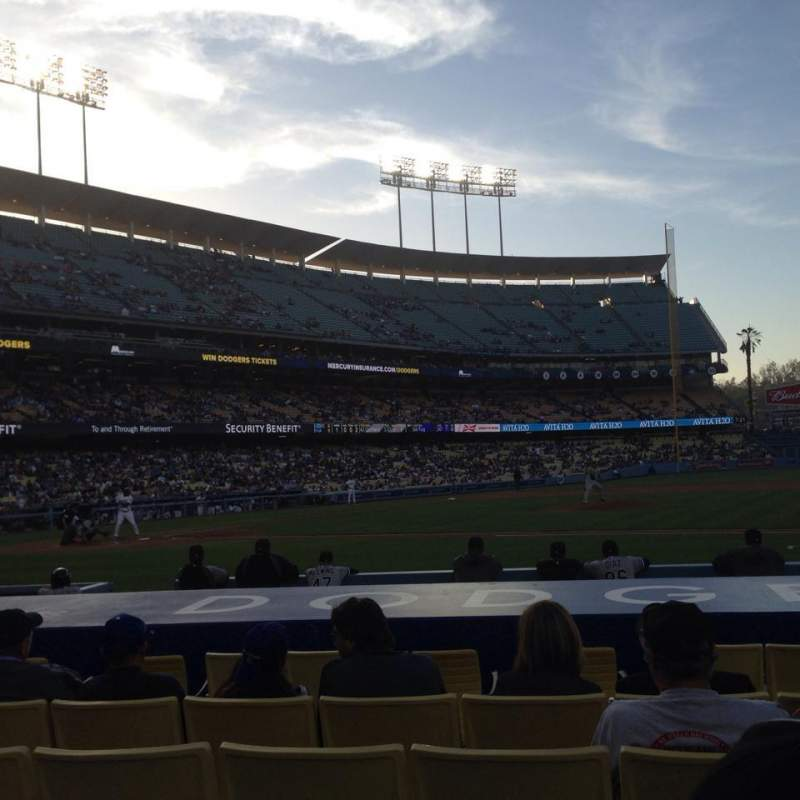 Dodger Stadium, section: 20FD, row: B, seat: 1