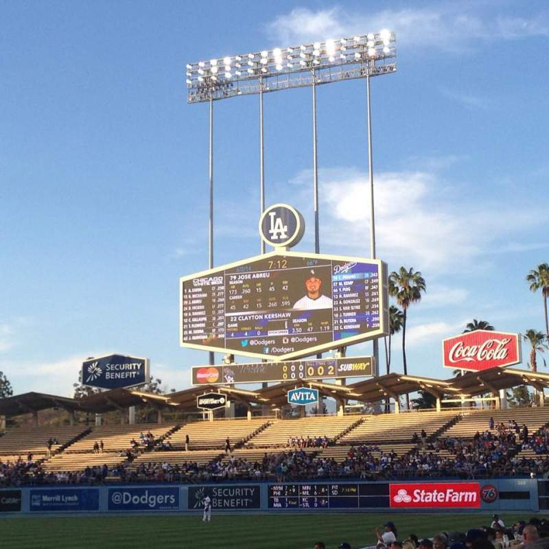 Seating view for Dodger Stadium Section 20FD Row B Seat 1