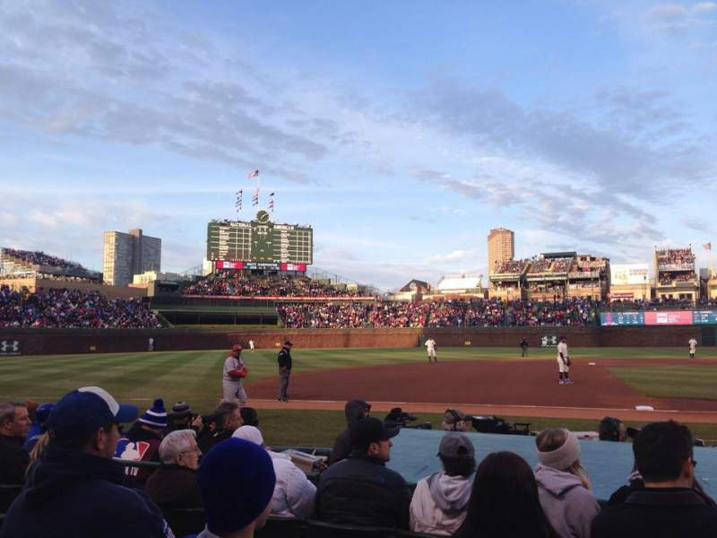 Seating view for Wrigley Field Section 12 Row 5 Seat 101
