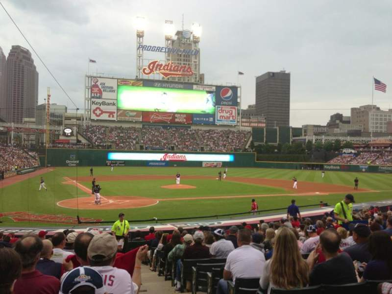 Seating view for Progressive Field Section 151 Row R Seat 1