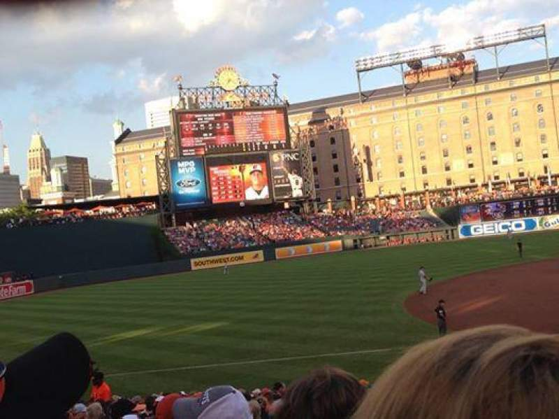 Seating view for Oriole Park at Camden Yards Section 58 Row 23 Seat 1