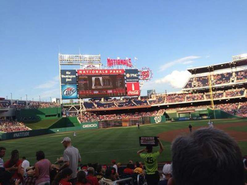 Seating view for Nationals Park Section 115 Row J Seat 16