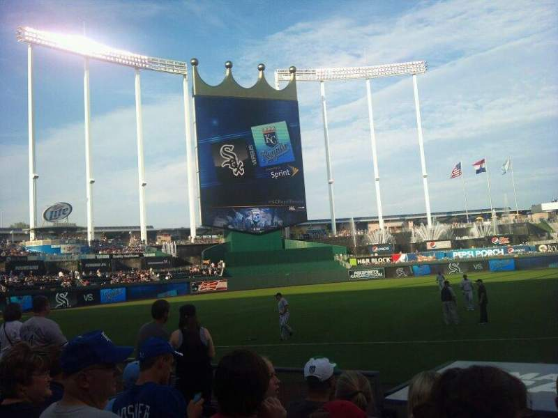 Seating view for Kauffman Stadium Section 116 Row F Seat 10