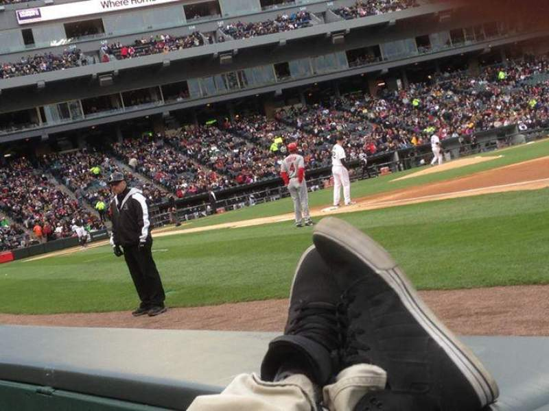 Seating view for Guaranteed Rate Field Section 119 Row AA Seat 1