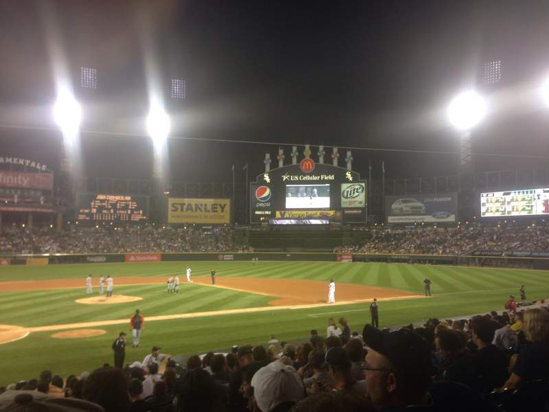 Seating view for Guaranteed Rate Field Section 128 Row 20 Seat 11