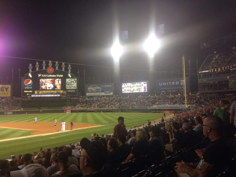 Seating view for U.S. Cellular Field Section 128 Row 20 Seat 11