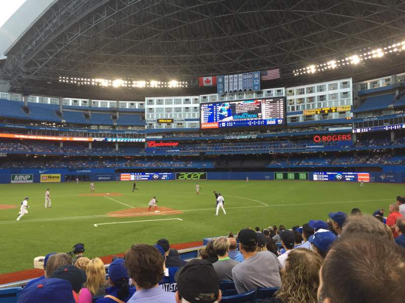 Seating view for Rogers Centre Section 117R Row 15 Seat 1