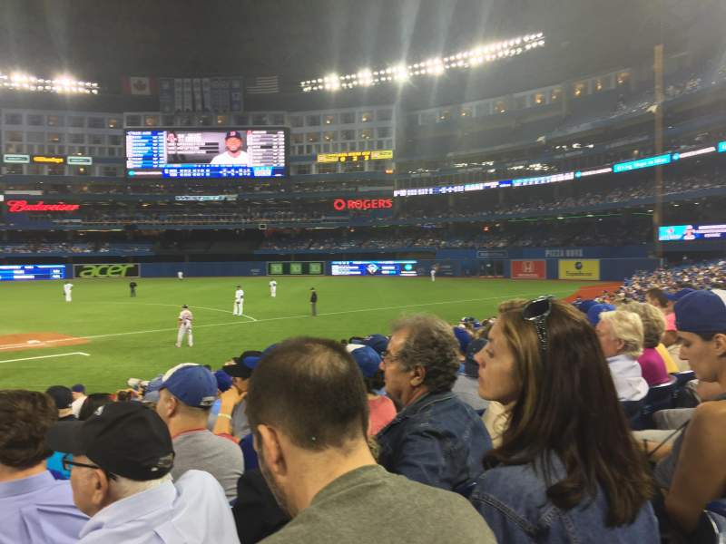 Seating view for Rogers Centre Section 117 Row 15 Seat 1