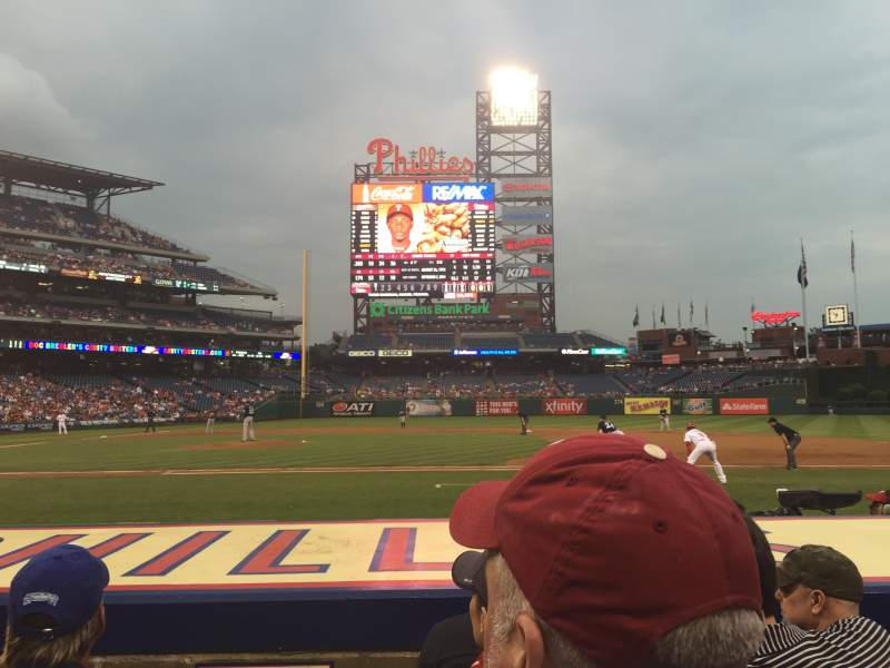 Seating view for Citizens Bank Park Section 116 Row 4 Seat 18