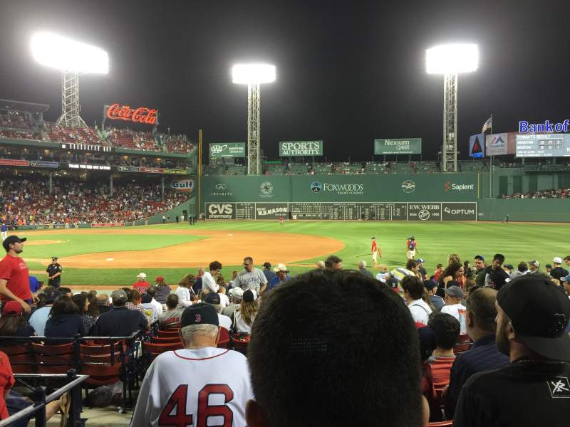 Seating view for Fenway Park Section Loge Box 106 Row EE Seat 4