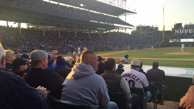 Seating view for Wrigley Field Section 27 Row 7 Seat 1