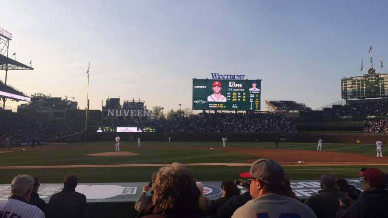 Seating view for Wrigley Field Section 23 Row 11 Seat 1