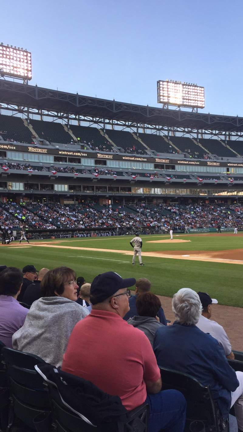 Seating view for Guaranteed Rate Field Section 120 Row 6  Seat 8