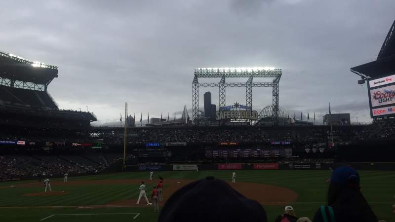 Seating view for T-Mobile Park Section 121 Row 16 Seat 1