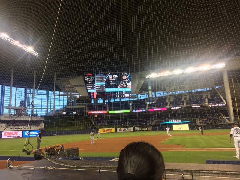 Seating view for Marlins Park Section 21 Row B Seat 1