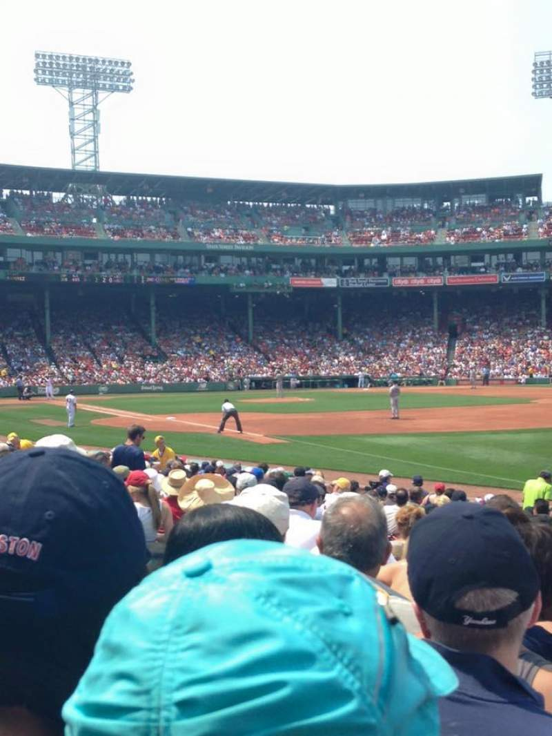 Seating view for Fenway Park Section Right Field Box 97 Row GG Seat 4