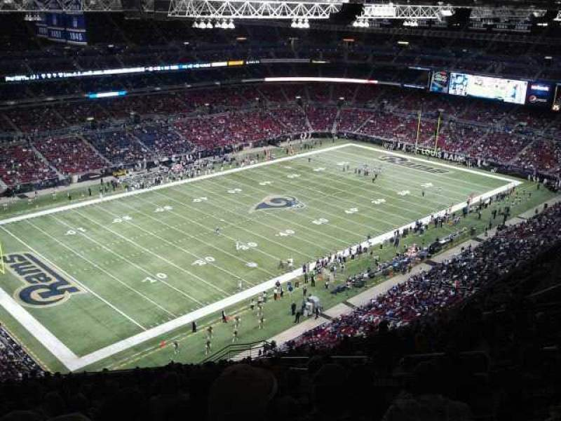 Seating view for The Dome at America's Center Section 420 Row VV Seat 1