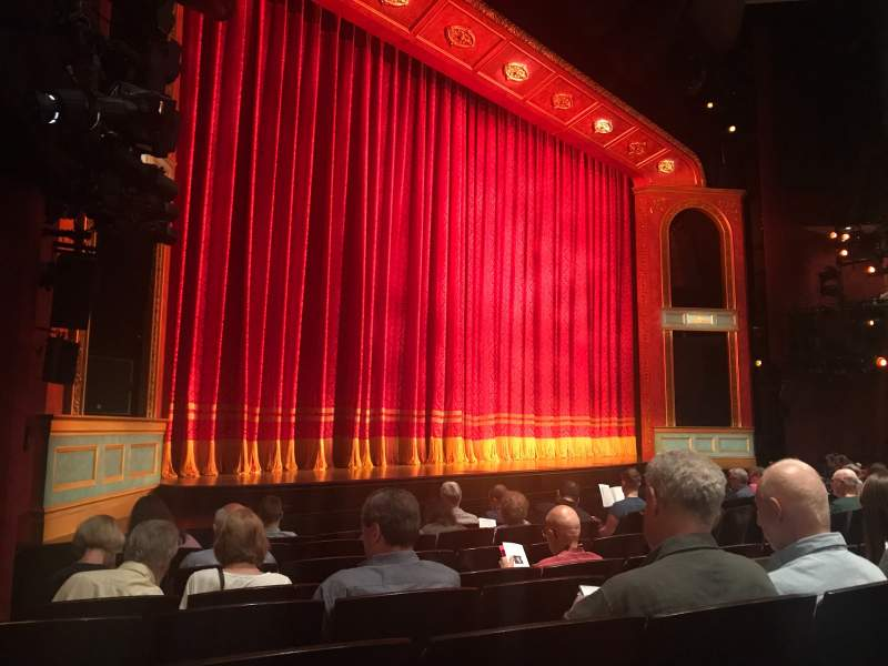Seating view for Marquis Theatre Section Orchestra L Row H Seat 17