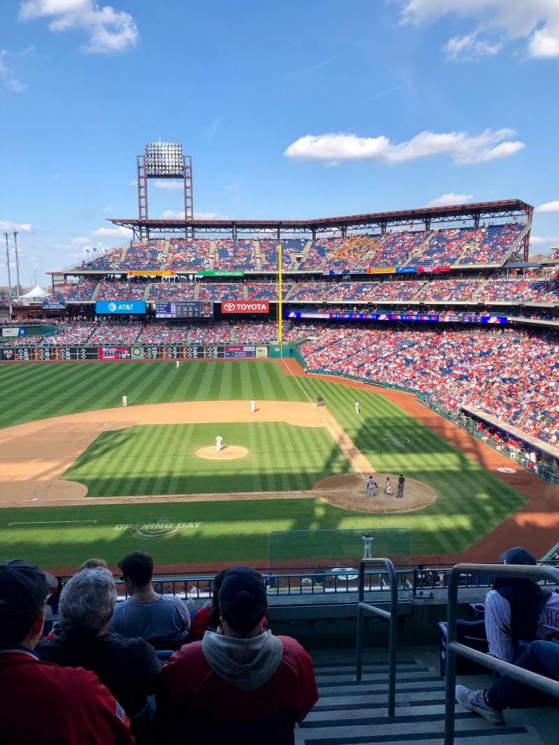 Seating view for Citizens Bank Park Section 228 Row 6 Seat 1