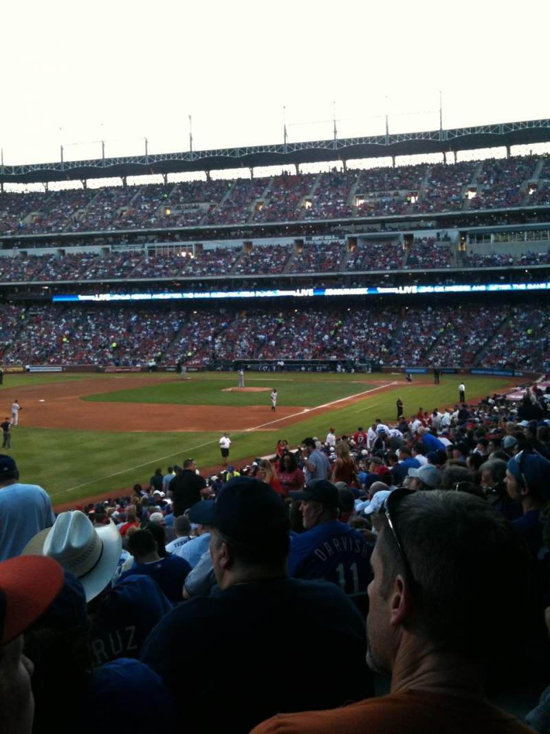 Seating view for Globe Life Park in Arlington Section 12 Row 28 Seat 13