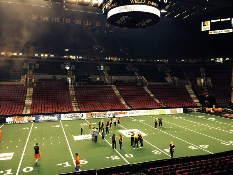 Seating view for Moda Center Section 102 Row R Seat 9