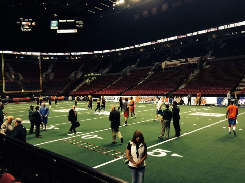 Seating view for Moda Center Section 110 Row C Seat 2