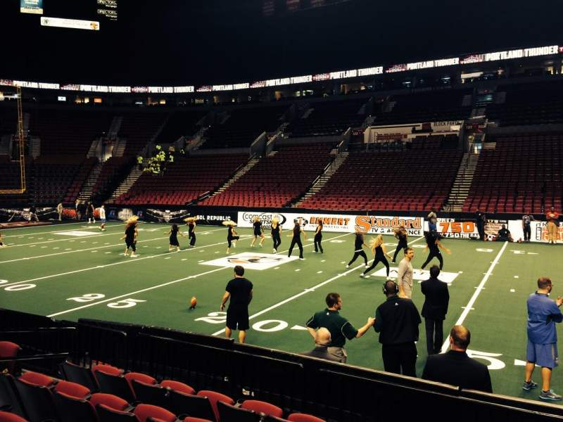 Seating view for Moda Center Section 111 Row F Seat 8