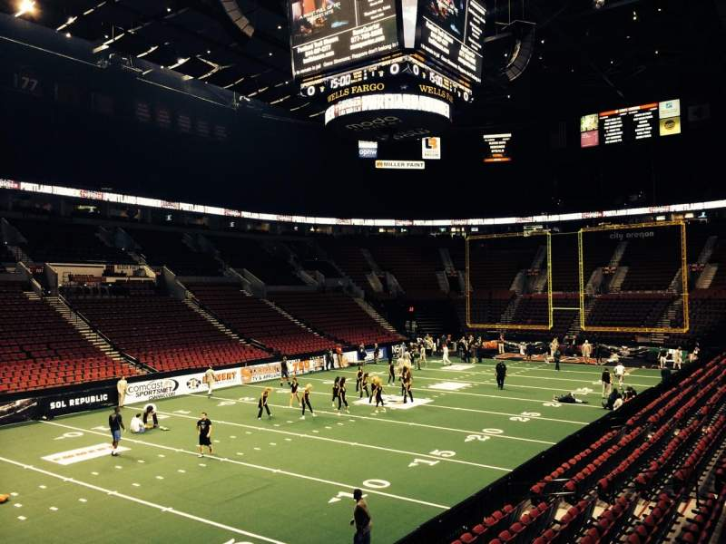 Seating view for Moda Center Section 115 Row L Seat 3