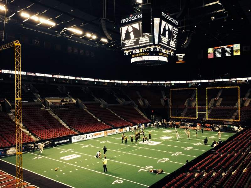 Seating view for Moda Center Section 221 Row D Seat 1