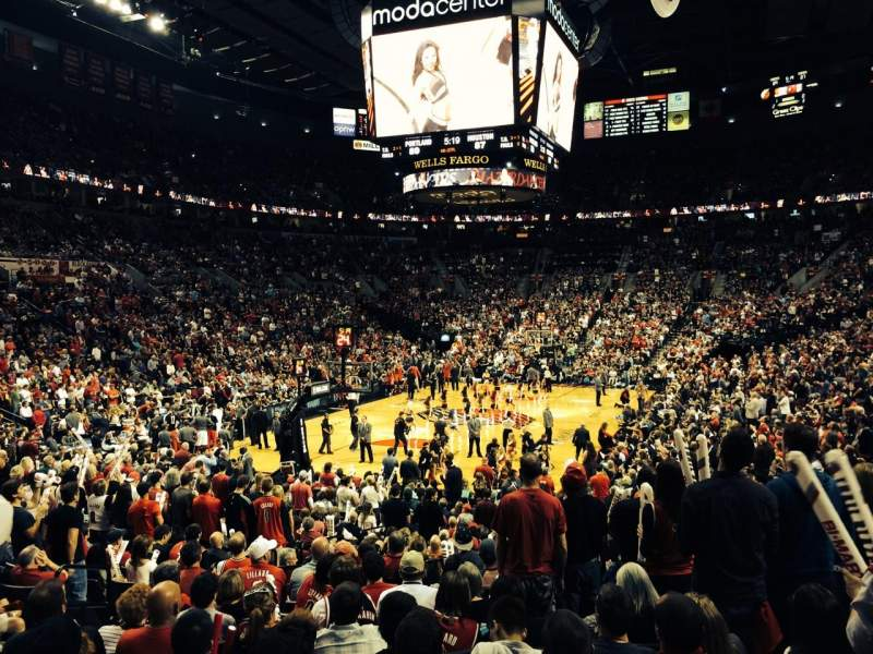 Seating view for Moda Center Section 116 Row L Seat 17