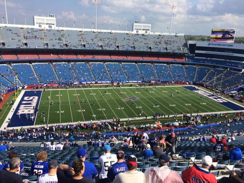 Seating view for New Era Field Section 336 Row 35 Seat 8